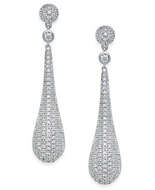 Diamond Pavé Drop Earrings (1 ct. t.w.) in 14k White Gold