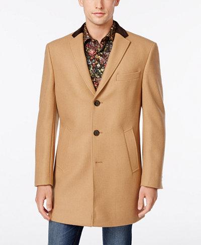 Tallia Big & Tall Men's Camel Overcoat