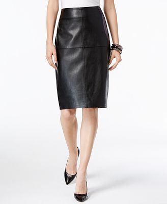 INC International Concepts Petite Faux-Leather Pencil Skirt, Only ...