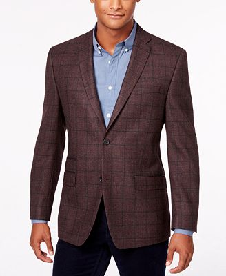 Marc New York Andrew Marc Men's Windowpane Slim-Fit Sport Coat