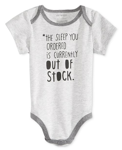 c8626ca77 First Impressions Baby Boys & Girls Out of Stock Bodysuit, Created for  Macy's