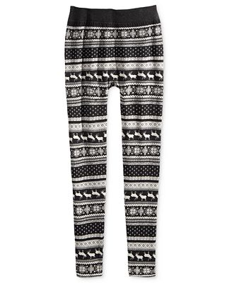 Pink Republic Jacquard Leggings, Girls (7-16)