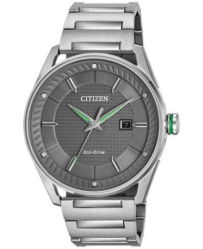 Citizen Drive from Citizen Eco-Drive Men's Stainless Steel Bracelet Watch 42mm BM6980-59H