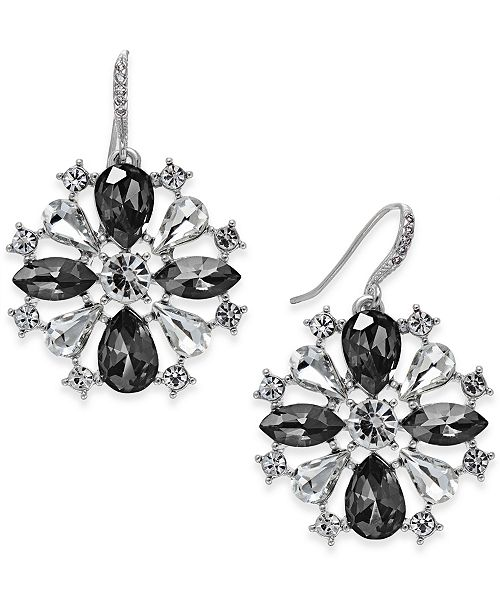 Charter Club Crystal Pinwheel Earrings, Created for Macy's