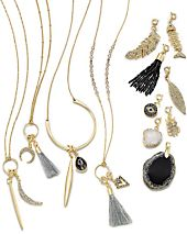 INC International Concepts Mix-And-Match Charm Necklace Collection, Created for Macy's