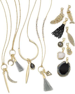 INC International Concepts Mix-And-Match Charm Necklace Collection, Only at Macy's