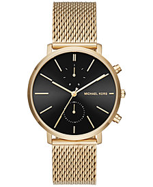 Michael Kors Men's Chronograph Jaryn Gold-Tone Stainless Steel Mesh Bracelet Watch 42mm MK8503