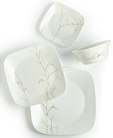 Market Street New York by Corelle Gilded Woods 4-Piece Square Place Setting