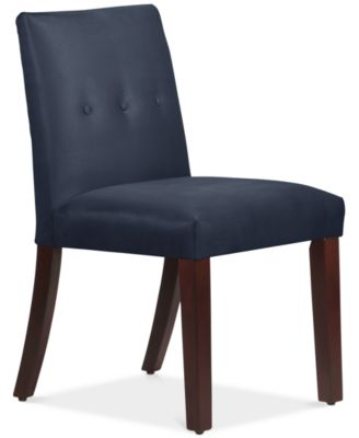 Charming Mirrell Tapered Dining Chair With Buttons, Quick Ship