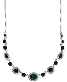 Givenchy Rounded Crystal and Pavé Collar Necklace