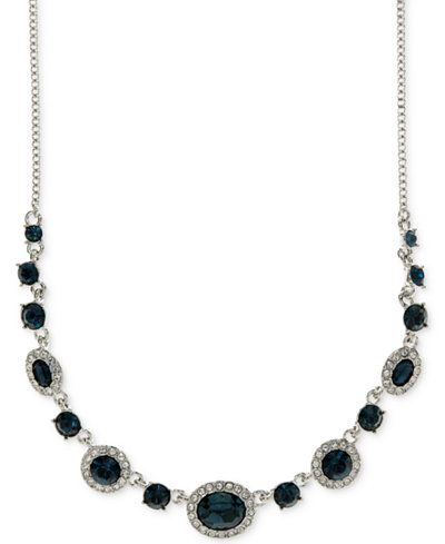 Givenchy Rounded Crystal and Pav� Collar Necklace