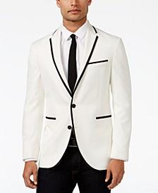 Slim-Fit White with Black Trim Dinner Jacket, Online Only