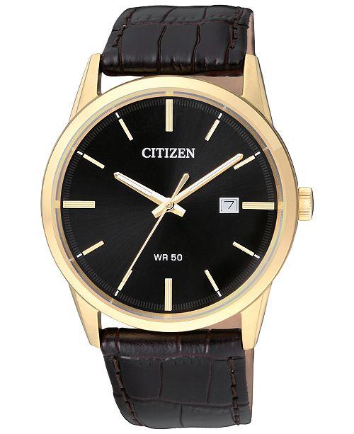 Citizen Men's Quartz Brown Leather Strap Watch 39mm BI5002-06E