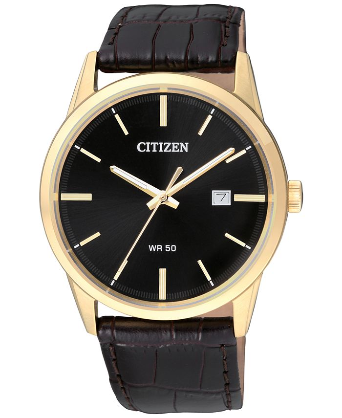 Citizen - Men's Quartz Brown Leather Strap Watch 39mm BI5002-06E
