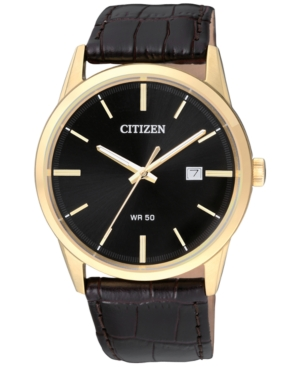 Citizen Men's Quartz Brown Leather Strap Watch 39mm BI5002-