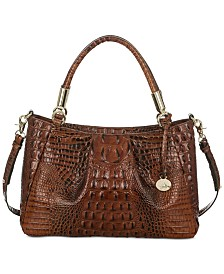 Brahmin Ruby Melbourne Embossed Leather Satchel, Only at Macy's/Exclusive to Macy's