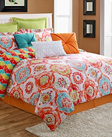 Ava Reversible 4-Piece Full Comforter Set
