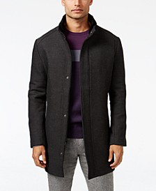 Men's Mock Collar Textured Top Coat, Created for Macy's