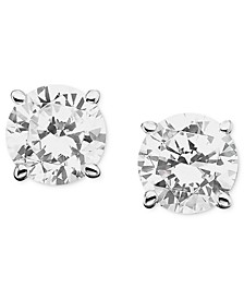 Certified Colorless Diamond Stud Earrings in 18k White Gold (1/2 ct. t.w.)