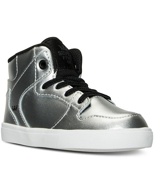 SUPRA Toddler Boys' Vaider Casual Skate High Top Sneakers from Finish Line