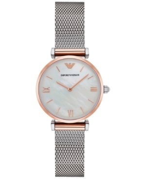 Emporio Armani Women's Gianni Stainless Steel Mesh Bracelet Watch 32mm AR2067