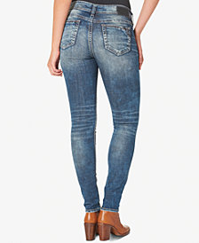 Silver Jeans Elyse Medium Blue Wash Skinny Jeans