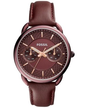 WOMEN'S TAILOR RED LEATHER STRAP WATCH 35MM ES4121