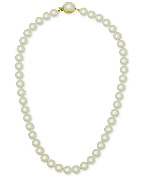 Majorica 18k Gold Vermeil White Imitation Pearl Collar Necklace