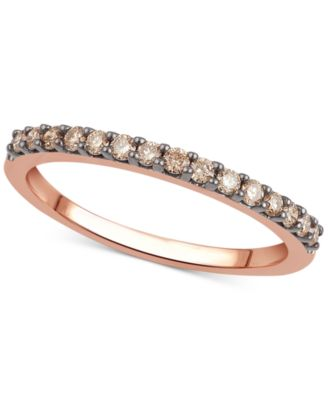 Black Or Brown Diamond Band (1/4 Ct. T.w.) In 14k White