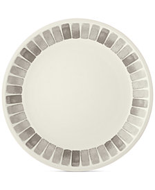 Martha Stewart Collection Heirloom Gray Dinner Plate, Created for Macy's