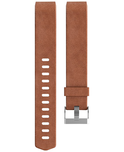 Fitbit Unisex Charge 2 Brown Leather Accessory Band FB160LBCGL