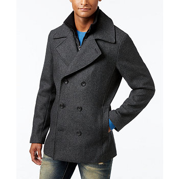 American Rag Men's Double Breasted Twill Peacoat