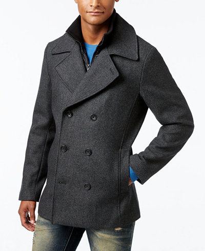 American Rag Men's Double Breasted Twill Peacoat, Created for ...