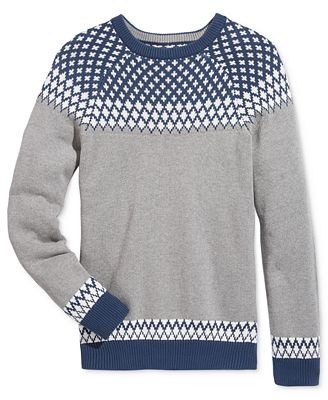 American Rag Men's Fair Isle Print Sweater, Created for Macy's ...