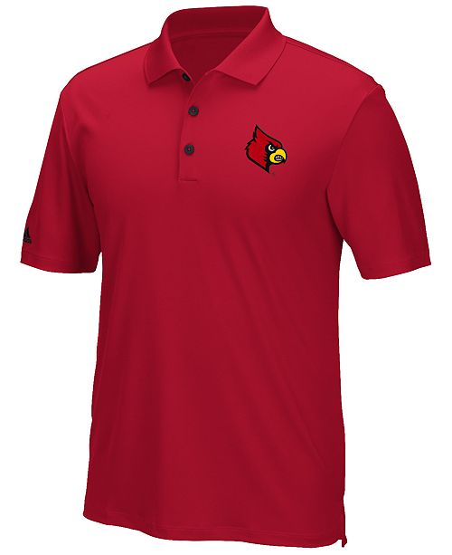 adidas Men's Louisville Cardinals TMAG Climacool Performance Polo Shirt