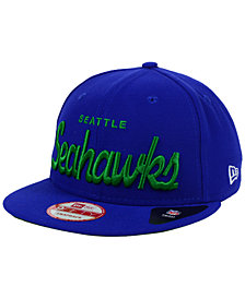 New Era Seattle Seahawks LIDS 20th Anniversary Script 9FIFTY Snapback Cap