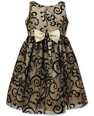 Jayne Copeland Velvet Flocked Special Occasion Dress Big