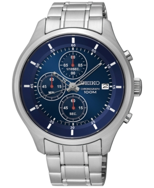 Seiko Men's Chronograph Special Value Stainless Steel Bracel