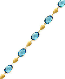 Ocean Bleu by EFFY® Blue Topaz Link Bracelet (29 ct. t.w.) in 14k Gold