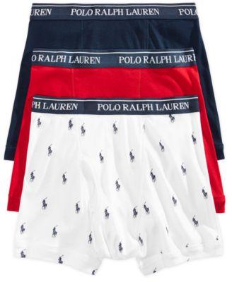 Polo Ralph Lauren Men\u0027s Underwear, Boxer Briefs 3 Pack