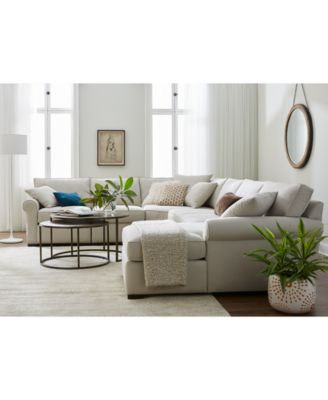 astra 4-pc. sectional with chaise, created for macy's - family