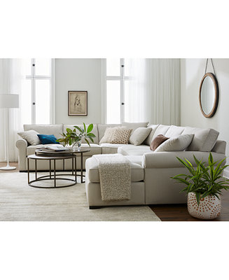 Astra Fabric Sectional Collection Created For Macy 39 S Furniture Macy 39 S