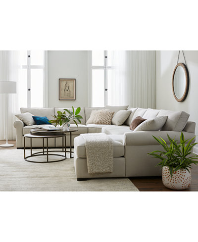 Astra Fabric Sectional Collection Created For Macy S