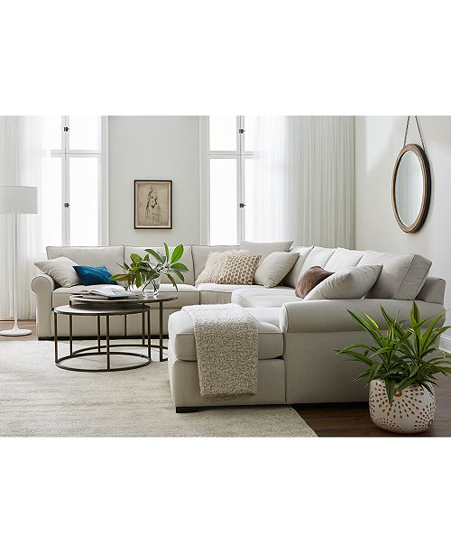 Furniture Astra Fabric Sectional Collection, Created For