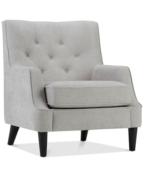 BLUSH & BRASS Banton Club Chair, Quick Ship