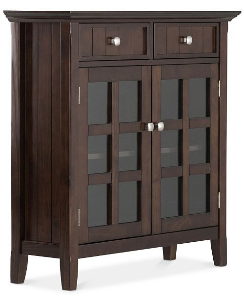 Simpli Home Avery Entryway Storage Cabinet, Quick Ship