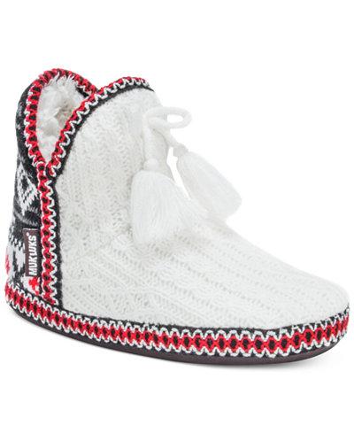 Muk Luks Amira Snowflake Lodge Boot Slippers