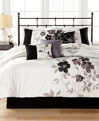 closeout! shiloh 7-pc. comforter set, created for macy's - bed in