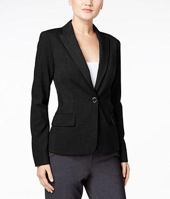 Calvin Klein Single-Button Stretch Blazer - Wear to Work - Women ...