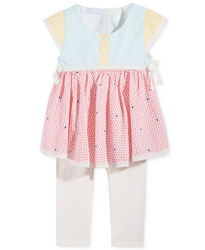 First Impressions 2-Pc. Mixed-Print Tunic & Leggings Set, Baby Girls (0-24 months), Only at Macy's
